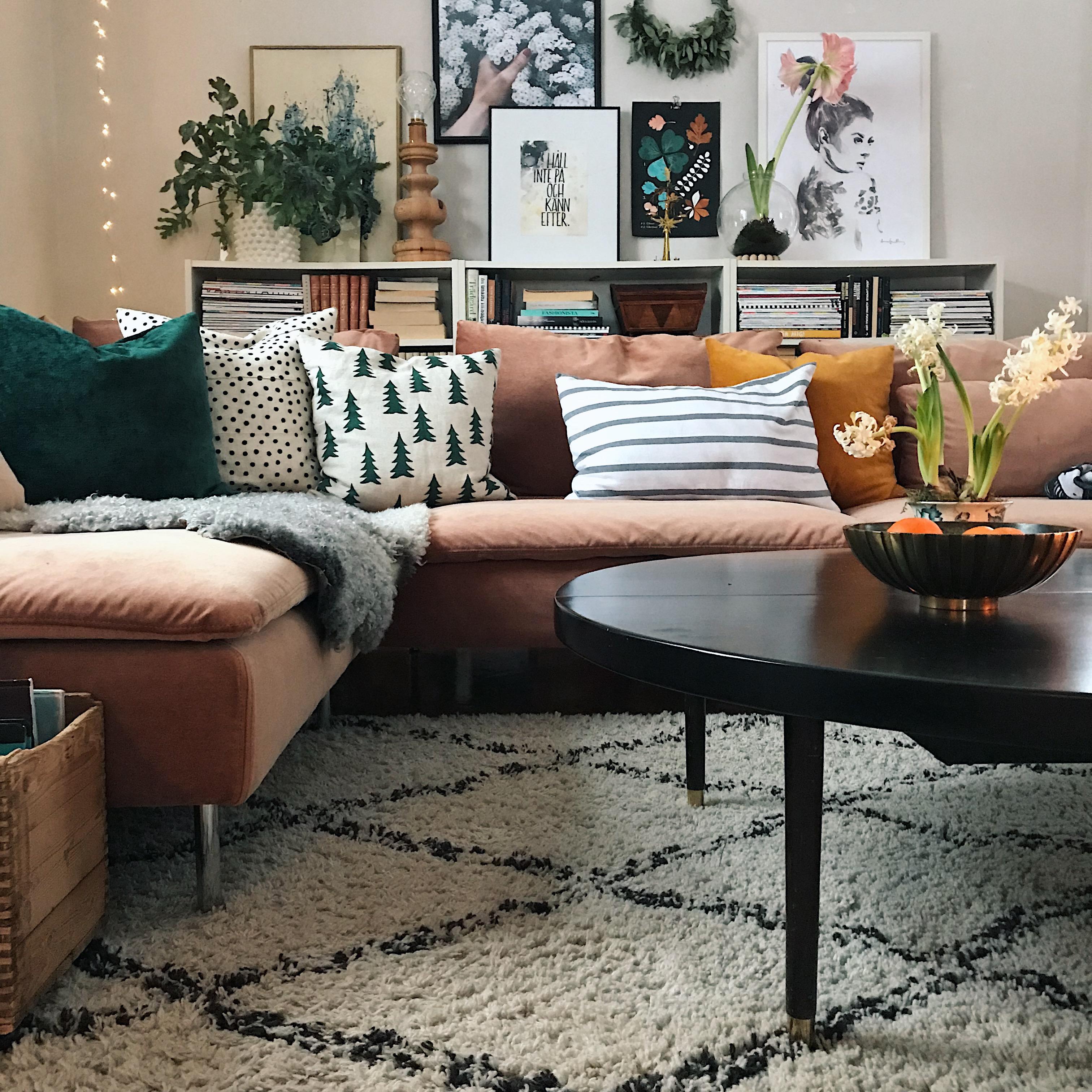 Vår soffa i nytt fodral!